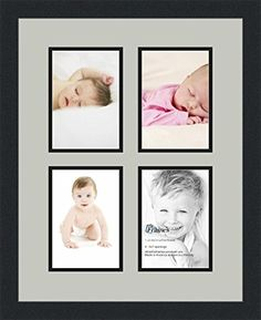 art to frames collage photo frame double mat with 4 openings and satin black frame click image to review more details