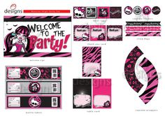 Monster High Instant Printable Digital Party Set by Odesigns