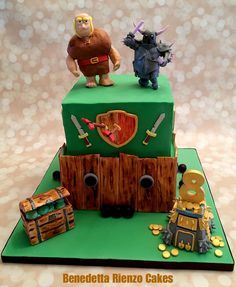 Clash of Clans Cake by Benedetta Rienzo Cakes