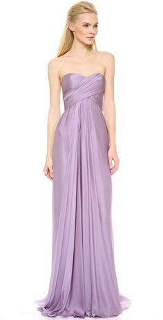Reem Acra Strapless Ruched Gown on shopstyle.com