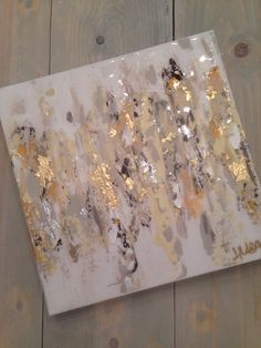 "Abstract art on canvas by Jenn Meador $100. 12""x12"" email to purchase jennmeadorpaint@gmail.com"