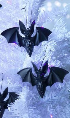 Noctem' hexmas ornaments, large size bat with spread wings and ornate detailing. Lightweight so won't fall off the branches Dark Christmas, Christmas Baubles, Christmas Time, Christmas Decorations, Christmas Ideas, Christmas Goodies, Christmas Inspiration, Christmas Projects, Tatto Shop