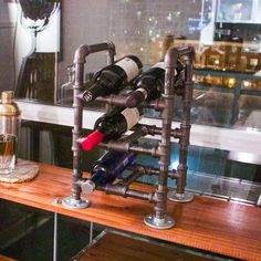 Steam Punk Wine Rack Instructable by Robert Chlebowski