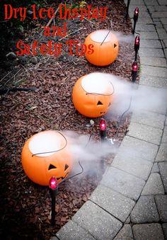 Dry Ice Display for Halloween