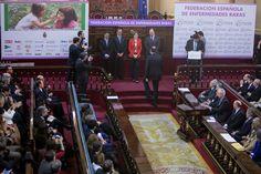 """S.M. la Reina Acto oficial del """"Día Mundial de las Enfermedades Raras"""" Palacio del Senado. Madrid, 05.03.2015"""