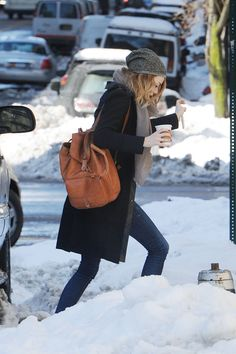 winter street style 2014 | Emma Stone – Real New York City Street Style: Winter 2014