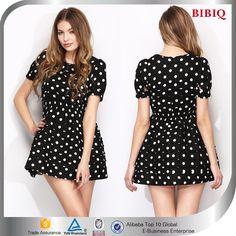 2015 New Fashion Short Sleeve Women Dresses