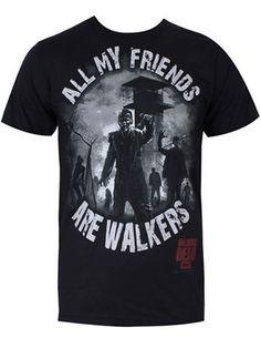 The Walking Dead All My Friends Men's Black T-Shirt