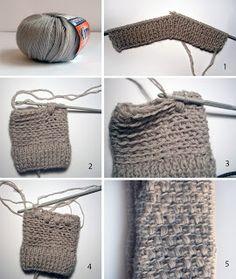 elcuadernodeideas: Guantes (manguitos) de punto y crochet