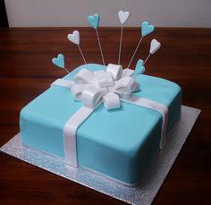 Cakes I have made. Sweets Cake, Cupcake Cakes, Cupcakes, Beautiful Cakes, Amazing Cakes, Engagement Cakes, Tiffany Engagement, Engagement Ideas, Blue Cakes
