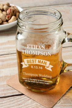 Barn Wedding Favor Love Personalized Mason Jar Mugs Rustic