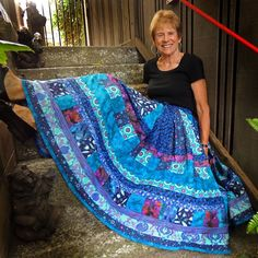 Long Gypsy, Maxi Turquoise Patchwork Skirt