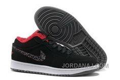 check out cdad0 dfe36 New Air Jordans 1 Low black red Michael Jordan Shoes, Cheap Jordan Shoes,  Cheap