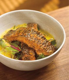 Tilapia in Yogurt and Ginger Curry by Vikram Vij via thekitchn  #Tilapia #Vikram_Vij #thekitchn
