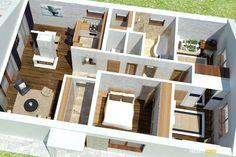 Nízkorozpočtový projekt domu bungalov na úzke pozemky Bungalow, Exterior, House, Haus, Home, Rambler House, Homes
