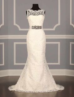 Romona Keveza RK355 Couture Bridal Gown~ Soutache Lace and Silk Tulle