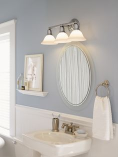 Toll Sussex Collection By Sea Gull Lighting: Three Light Sussex Wall/Bath. The