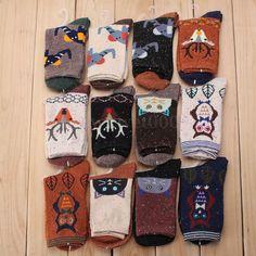 Women Girls Cartoon Cotton Ankle Socks Warm Winter Deer Wool Christmas Xmas Gift | eBay