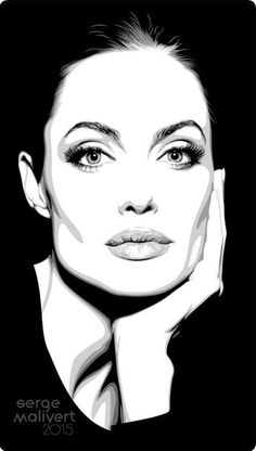 Pop Art Portraits, Portrait Sketches, Vector Portrait, Portrait Illustration, Portrait Art, Pop Art Drawing, Cool Art Drawings, Black And White Art Drawing, Celebrity Drawings