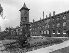 """""""Toxteth Park Workhouse, Smithdown Road. The workhouse later became Sefton General Hospital. An Asda store stands on the site now""""."""