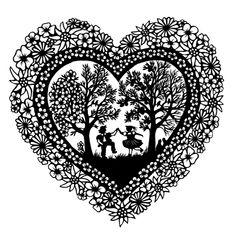 Herz | Esther Gerber Scherenschnitte Paper Cut Design, Cut Out Design, Craft Gifts, Diy Gifts, Crafts To Do, Arts And Crafts, Paper Art, Paper Crafts, African Sunset