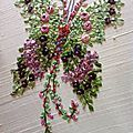 Les Papillons fleurs brodés par Marylise de l'album Les ouvrages de mes éleves