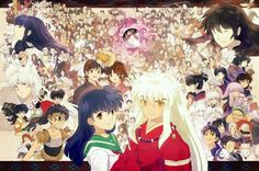 Every Inuyasha Character. Antagonists on the right, allies on the left