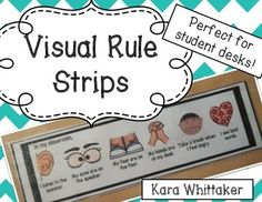 Start the year off with clear classroom rules and expectations! Visual rule strips provide students with a non-invasive behavioral support.