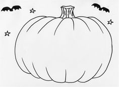 See Best Photos Of Pumpkin Outline Template Coloring Clip Art Free Printable Pages Blank