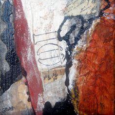 mini abstract 10x10 cm ,mixed media