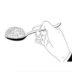 Food for thought. Ilustración de Filippo Spinelli - - (@philspinelli ) - - #ilustración #illustration #art #arte #cultura #CulturaColectiva