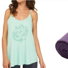Comfy mint yoga top! Super cute OM symbol yoga top by premier designer YogaGlyphs! YogaGlyphs Tops