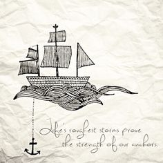 I already wanted the anchor and this is the perfect quote to go along with it.
