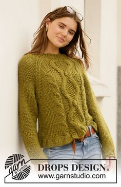 Women - Free knitting patterns and crochet patterns by DROPS Design Knit Cardigan Pattern, Sweater Knitting Patterns, Knit Patterns, Free Knitting, Clothing Patterns, Baby Knitting, Drops Design, How To Purl Knit, Cable Knit Sweaters