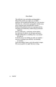 """Dover Butch"" by David Biespiel  |  October 2006 : Poetry Magazine"