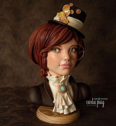 This Arabella - Steamcakes 2018 by Carla Puig is incredible! Does not even look like a cake. Pretty Cakes, Beautiful Cakes, Amazing Cakes, Unique Cakes, Creative Cakes, Cake Structure, Cool Cake Designs, Chocolate Girls, Fondant