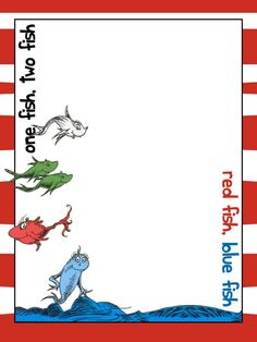 Seuss Landing - Journal Card - IOA - One fish, two fish, red fish, blue fish - photo