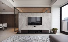 MIEMASU | PACE Residential Interior Design, Modern Interior, Home Interior Design, Interior Architecture, Living Room Tv, Living Room Interior, Tv Wall Design, House Design, Home Theather