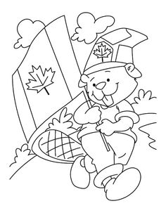 Read moreA Fluffy National Beaver Boyscout On Canada Day Coloring Pages Creation Coloring Pages, Flag Coloring Pages, Online Coloring Pages, Free Coloring, Coloring Sheets, Canada For Kids, Canada 150, Canada Day Crafts, Canada Day Party