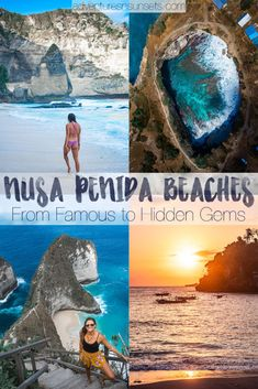 Nusa Penida Beaches: Ranked from most famous must-sees to hidden gem beaches with no tour busses. An island off the south coast of Bali, Nusa Penida has some of the best beaches not only in Bali but in the world! Learn about then here. #nusapenida #bali #beaches #bestbeaches #beach
