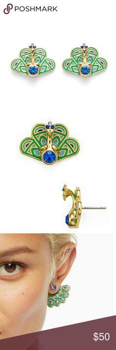 NEW!! Kate Spade Peacock Stud Earrings Brand new with original packaging  Stud earrings  Very cute and classy!  *NO TRADES!!* kate spade Jewelry Earrings