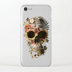 Garden Skull Light Clear iPhone Case by aligulec Iphone 7, Iphone Cases, Skull Art, Laptop Skin, Skulls, Ali, Smartphone, Ipad, Digital