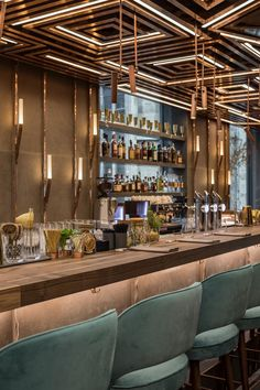 Luxurious copper clad restaurant with beautiful lighting features - Located in the heart of Vienna's Golden Quarter, Gatserelia Designs have developed 'AI Restaurant', an innovative Asian restaurant taking the city by storm with its unique and edgy vibe. #restaurant #interiordesign #vienna #gatsereliadesign #luxuryrestaurant #restaurantdesign
