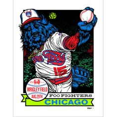 Foo Fighters Wrigley Field Chicago, IL Aug. 29, 2015 Ames Bros variant