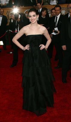 Anne Hathaway in Marchesa (13th Screen Actors Guild Awards)