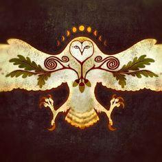 snow owl talon celtic oak moon lunar cycle
