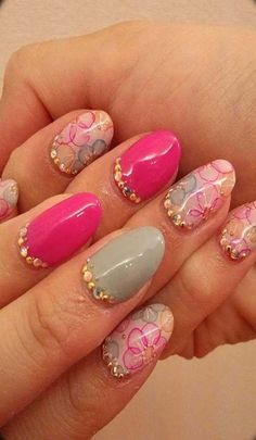pink french nails ツ Fabulous Nails, Gorgeous Nails, Pretty Nails, Hot Nails, Pink Nails, Hair And Nails, Beautiful Nail Designs, Beautiful Nail Art, Nails 2014