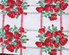 vintage Wilendur tablecloth detail
