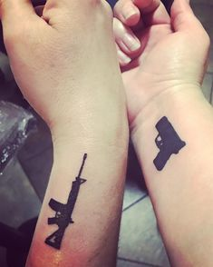 When we say we ❤️ guns, we mean it! Do you have a gun, hunting or 2A tattoo?.....@artisticencountertattoos #Regram via @cheaperthandirt