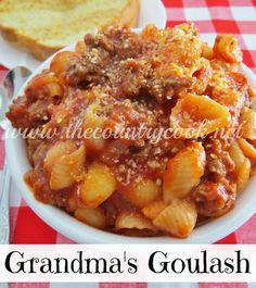The Country Cook: Grandma's Goulash